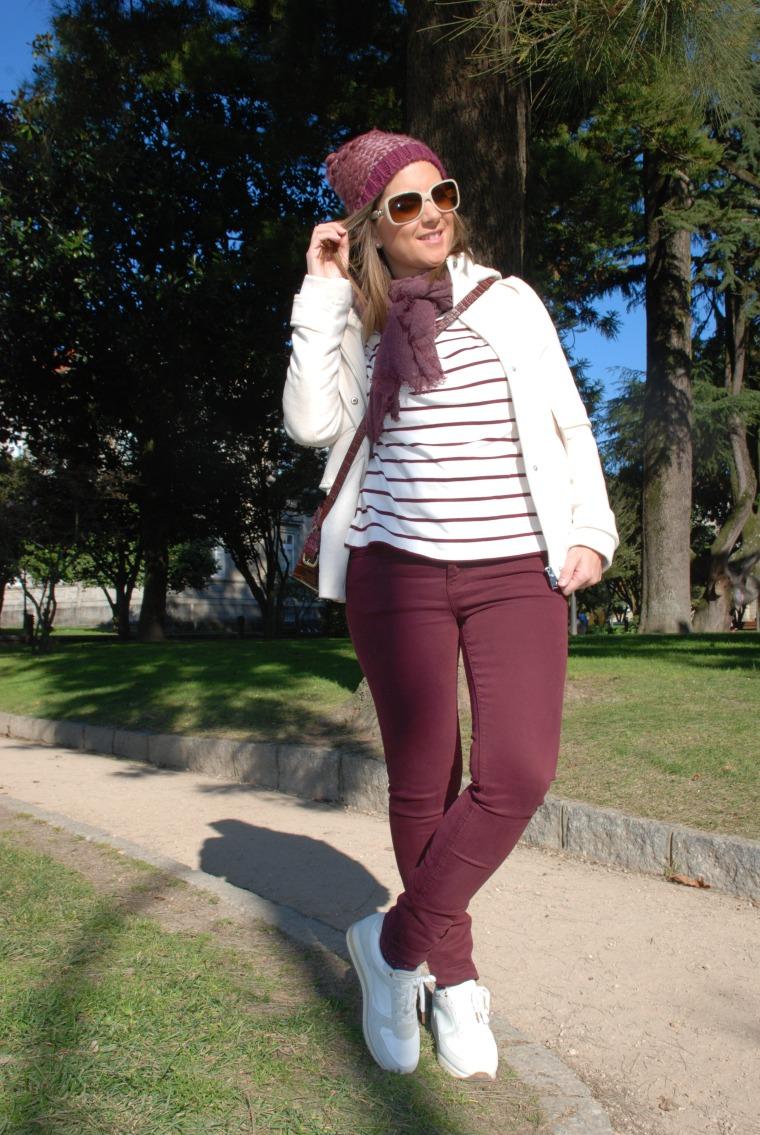 sudadero-rayas-granate-burgundy-blogger-moda